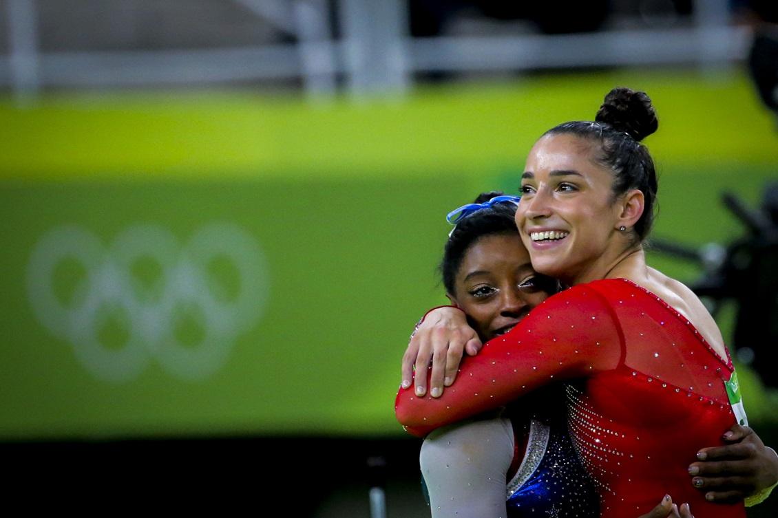 Aly Raisman, right, and Simone Biles (Courtesy photo)