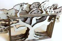 """""""Tree of Knowledge"""" (laser-cut wood) by Lainie Paris (Photo: Michelle Poirier)"""