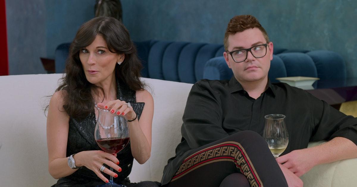 "Julia Haart and her assistant, Robert, in ""My Unorthodox Life"" (Promotional still: Netflix)"