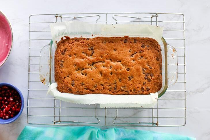 Apple Chocolate Chip Pomegranate Cake-1