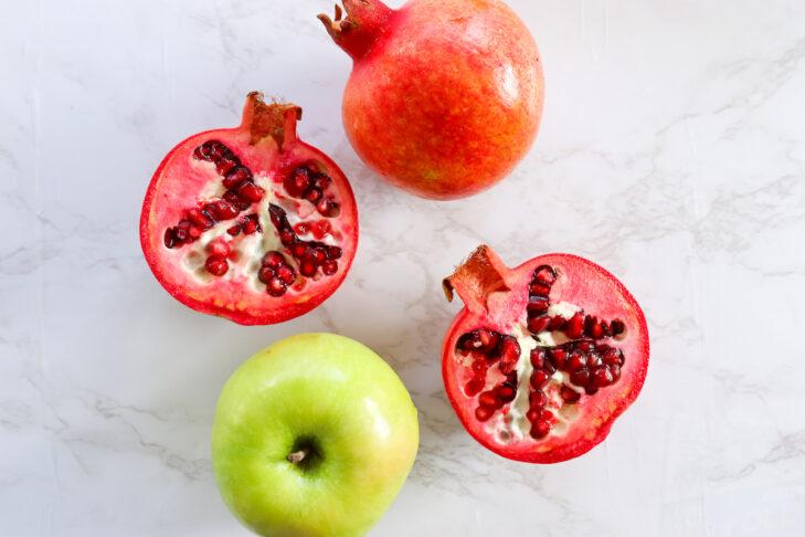 Apple Chocolate Chip Pomegranate Cake-5