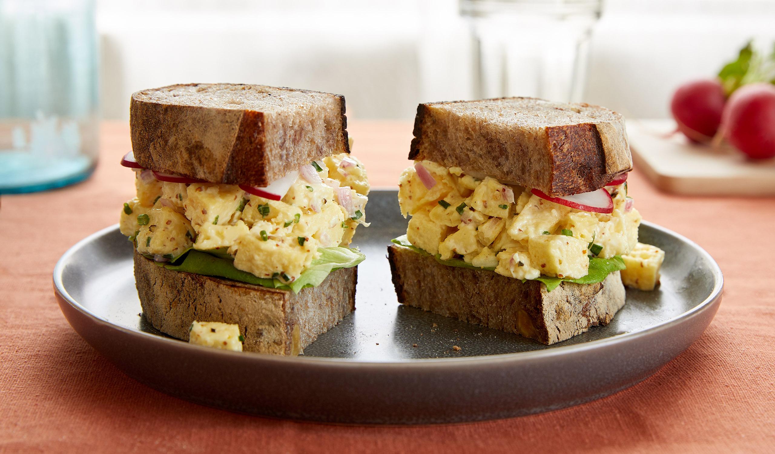Egg Salad Sandwich With JUST Egg Folded