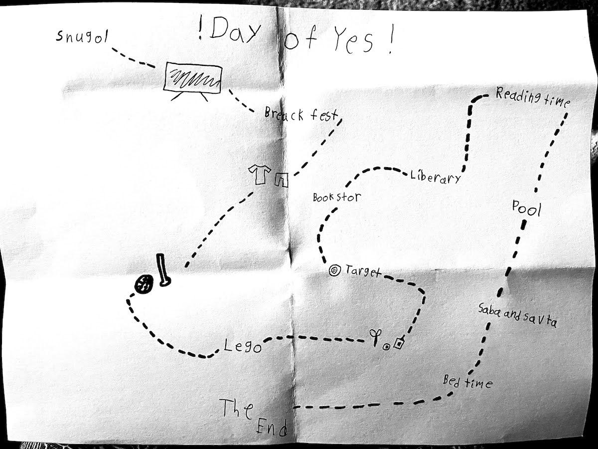 "Gali Feinberg's ""Day of Yes"" plan (Photo: Sarah Feinberg)"