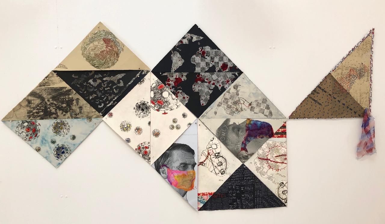 Sandra Mayo's COVID art piece in progress (Photo: Sandra Mayo)