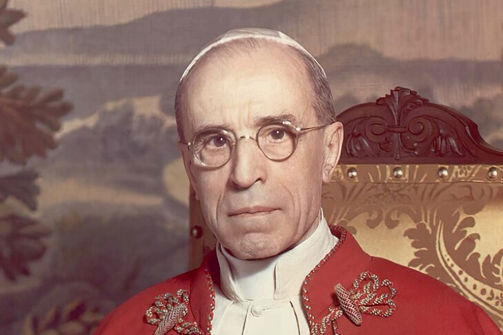 Pope Pius XII in 1951 (Public domain image: Michael Pitcairn)