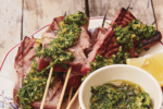"""Tuna shish with chermoula and preserved lemons from """"Chasing Smoke: Cooking Over Fire Around the Levant"""" by Sarit Packer and Itamar Srulovich (Photo: Patricia Niven)"""