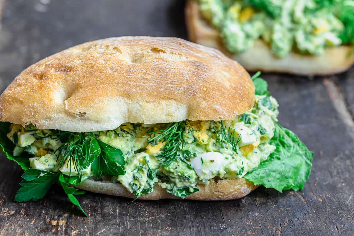 No Mayo Avocado Egg Salad Recipe