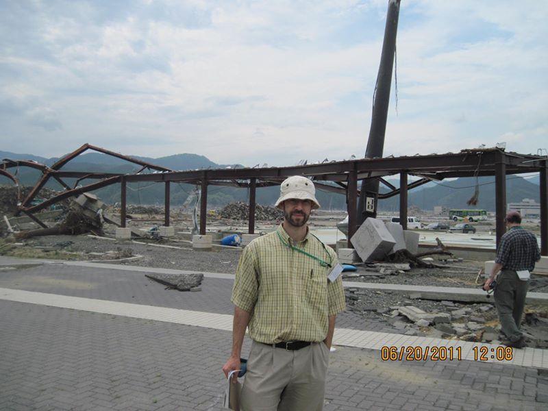 Daniel Aldrich in Japan after the 2011 tsunami (Courtesy photo)