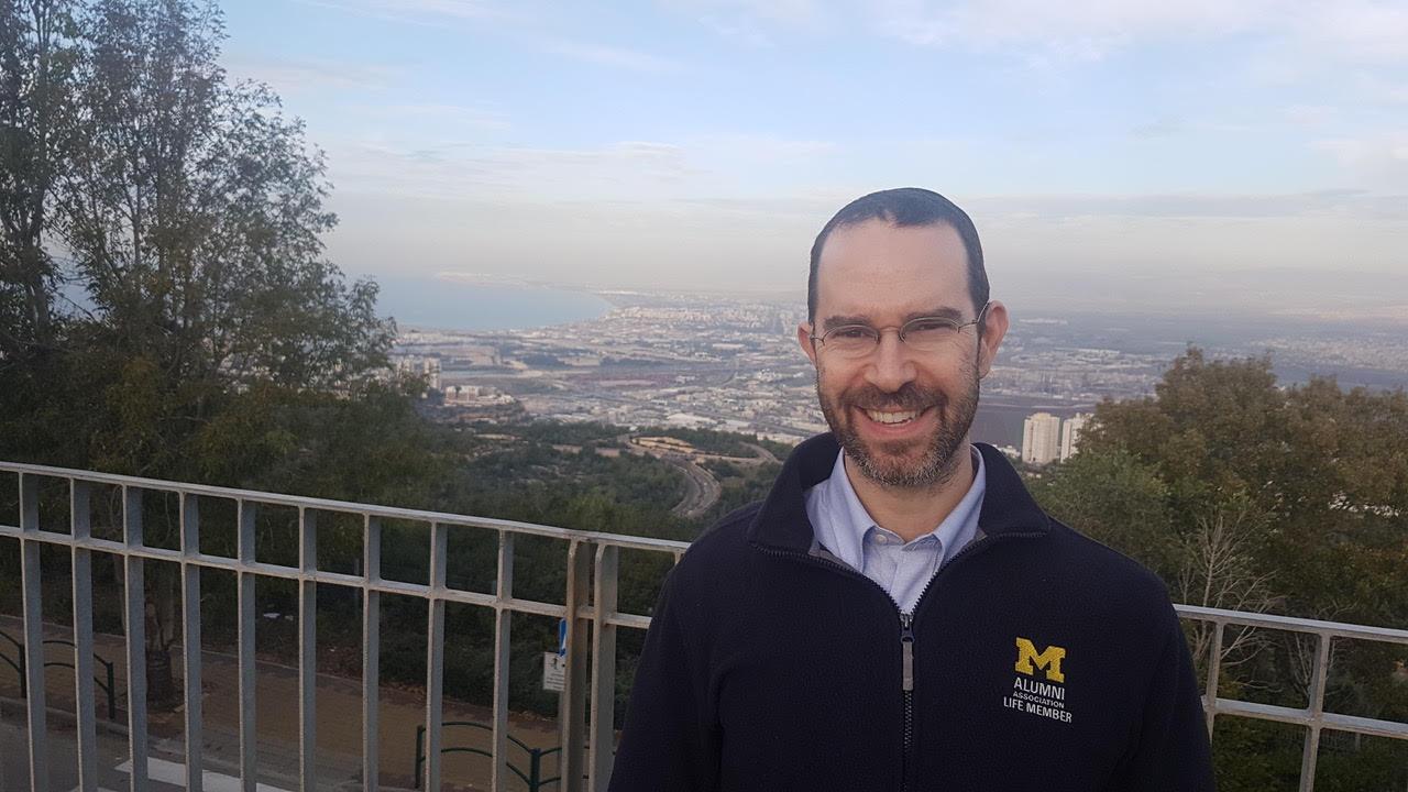 Daniel Aldrich in Haifa, Israel (Courtesy photo)