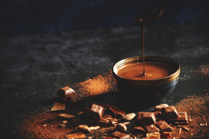 Preparing Finest Homemade Chocolate with Nuts